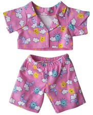 680a54012ad Pink Cloud Pj s Outfit Teddy Bear Clothes Fits Most 14