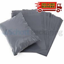 """50 STRONG POLY MAILING BAGS - 10"""" x 14"""" POSTAGE POSTAL QUALITY SELF SEAL GREY"""