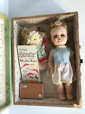 Vintage Eegee 11� Suzy Walking Doll Blonde Hair with Carrying Case & Clothes
