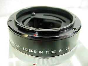Canon FD 25mm Extension Tube Life Size Adapter for Macro Lens 50mm 1:3.5   $24  