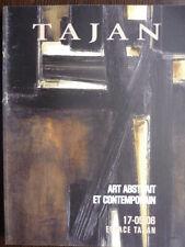 Catalogue de vente : TAJAN Art Contemporain Abstrait ARMAN REBEYROLLE TINGUELY