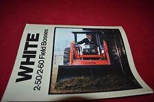 White Oliver 2-50 2-60 Tractor Dealer's Sales Notes DADS