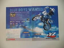 advertising Pubblicità 1999 MOTO YAMAHA YZ 125 SUPERCROSS