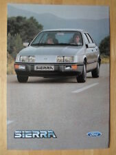 FORD SIERRA Range orig 1985 Dutch Mkt brochure prospekt with XR4i