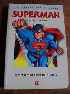 COTRONEO SUPERMAN CLASSICI DEL FUMETTO BUR OTTIMO!
