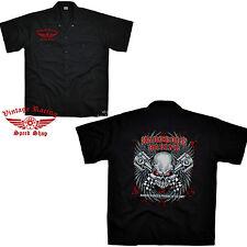 Skull Hemd Rockabilly Speed Vintage Hot Rod Racing Shop Werkstatt Pistons  *1259