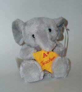 RUSS Berrie Elephant Soft Plush Toy/Teacher's Pet Gift - A+ Teacher - Small
