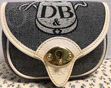 *Dooney & Bourke*DB Crest*Denim & Leather*Cavalry Belt Bag Crossbody*19053E S14