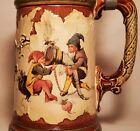 1898 Villeroy & Boch CARTOON vtg german beer stein geschutzt mug gnomes Mettlach