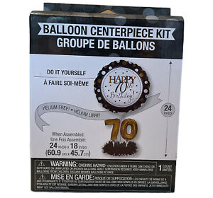 Happy 70th Birthday Balloon Centerpiece Kit 24in  70th Decoration