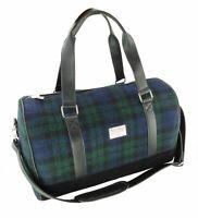 Harris Tweed 'Clyde' Weekend Bag in Black Watch LB1026-COL60