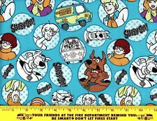 "Scooby Doo Fabric 100% Cotton Fabric Mask Quilting Fat Quarter 1/4 Yard 18""x21"""
