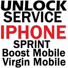 Sprint Boost Virgin Iphone 5S / 5C / 5 / 4S Premium Factory Unlock Service Code
