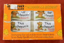 Enesco Cheese Markers Set of 4 Mice Characters Suzy Spafford Porcelain Write on