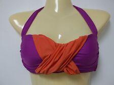 Athena Size 10 Purple Bandeau Halter New Womens Bikini Top Swimwear