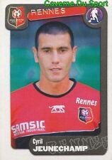 313 CYRIL JEUNECHAMP FRANCE STADE RENNAIS.FC STICKER FOOT 2005 PANINI