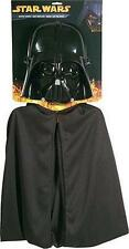 STAR WARS Classic Official DARTH VADER Cape & HELMET 1/2 MASK Costume SET CHILD