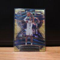 Shai Gilgeous Alexander Panini Select Gold Wave Card OKC Thunder SSP Prizm Holo
