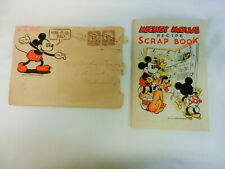 Mickey Mouse Recipe Scrap Book W/Mailer Gold Cup Bread 1930'S Wde