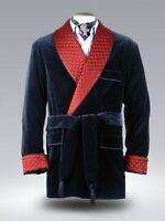 Men Navy Blue Smoking Jacket Elegant Luxury Designer Party Wear Blazers Coats UK