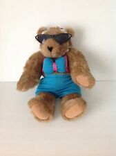 Vermont teddy bear Turquoise Bikini Beach jointed Brown plush Collectible