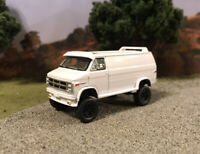 1983 GMC Vandura Van Lifted 4x4 Custom 1/64 Diecast Farm Truck Off Road Mudder