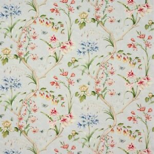 COLEFAX & FOWLER CURTAIN FABRIC 'JESSICA - OLD BLUE' 3.1 METRES 100% Linen