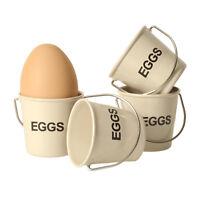 Eierbecher Eimer in creme Eieimer Eiereimer Ei Eier Hühnerei Eggs im 4er Set