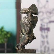 Face Sculpture Statue Abstract Modern Art Deco  Bronze color & free shipping