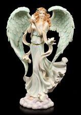 Engel Figur - Verda mit Friedenstauben - Fantasy Fee Elfe Schutzengel Cherubim