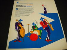 SAXOPHONE Drum Kit VOCALIST stand-up bass JAZZ COMBO 1991 Promo Poster Ad