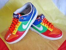 CUSTOM MADE NEON MULTI COLOR NIKE IN THE SWOOSH SIZE 6.5 Y ATHLETIC YOUTH SHOES