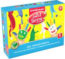 Gel- Fingerfarbe mit Aloe Vera 6x 35 ml Fingermalfarbe ART BERRY ERICH KRAUSE