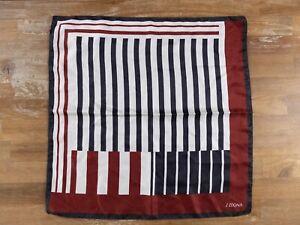 Z ZEGNA striped large silk pocket square authentic