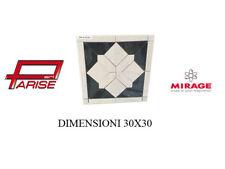 Rosone decoro Mirage ceramica mosaico su rete prima scelta levigato 30x30 B118