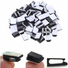 Mini Self Adhesive Car Wire Clips Rectangle Tie Sticker Cable Cord Holder lot