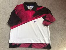 **ANDRE AGASSI AUTHENTIC NIKE CHALLENGE COURT RED LAVA TENNIS SHIRT**