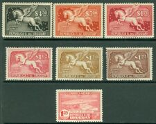 EDW1949SELL : URUGUAY Collection of 7 Diff VF Mint OG Air Mails. Scott Cat $210.