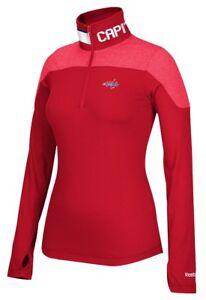 Washington Capitals Women's NHL Reebok 1/4 Zip Performance Pullover Jacket