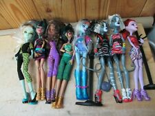 Lot of 8 Monster High Dolls w/ Shoes, Clothes, Purses, Accessories
