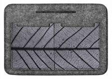 """ARSO Tasche Organizer Handtaschen-Organizer Taschenorganizer Grau Motiv """"Blatt"""""""