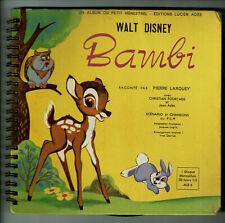 BAMBI Vinyle 33T 17cm Livre EP Claude NICOT A. GAYLOR Walt Disney DISNEYLAND 309