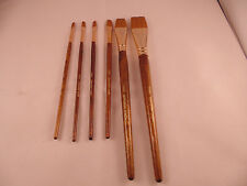 (k) ARTIST QUALITY SYNTHETIC WATERCOLOUR FLAT SHORT BRUSHES set of 6
