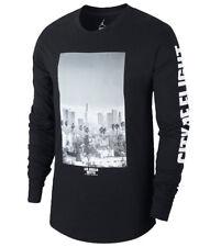 e4dee45f2777 Jordan City of Flight Long Sleeve Shirt Sz S Small Black White Los Angeles