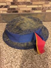 Vintage Leslie James Harold Minneapolis Blue Bird Of Paradise Hat