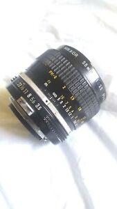 Nikon Micro Nikkor Auto 55mm 1:3.5 Ai Lens *As Is* PARTS OR REPAIR