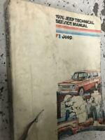 1976 Jeep Technical Service Shop Repair Workshop Manual Worn OEM