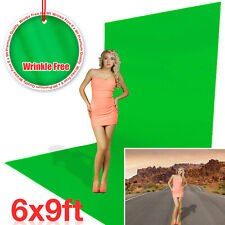 Green Backdrop Screen Photo Video Photography Background Washable 6 x 9ft