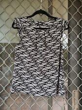 Dotti black and white work wear blouse sleeveless size 10 corporate