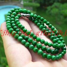 100% New natural 8mm Burmese Emerald gemstone Necklace 18''
